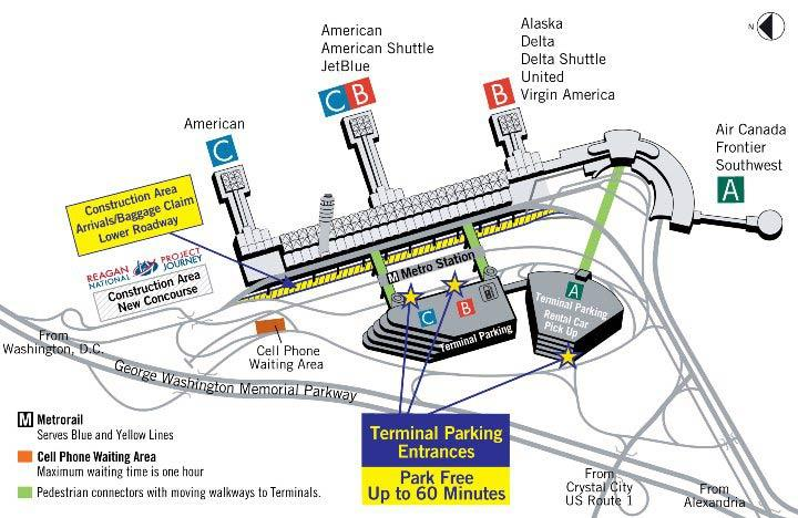 Washington DC Airports | Dulles (IAD) - National (DCA - Baltimore-DC ...